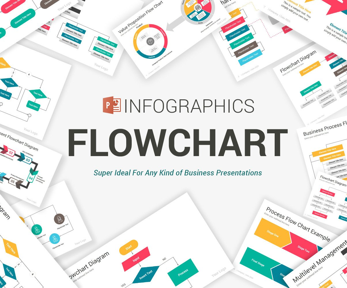 Flowchart Diagrams Powerpoint Template  105084