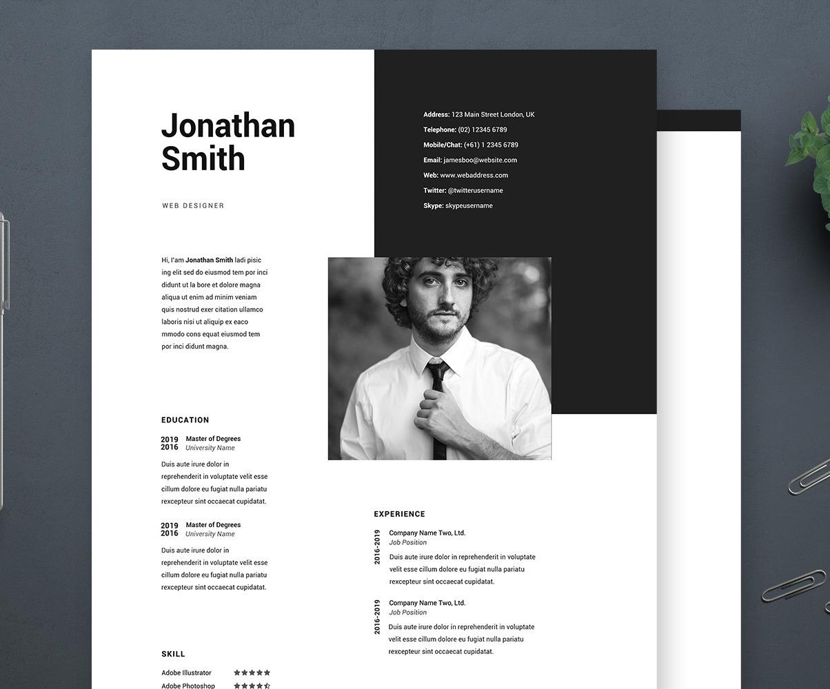 Web Designer Resume Template from s.tmimgcdn.com