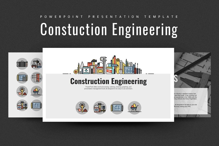 Construction Engineering Ppt Powerpoint Template 108869