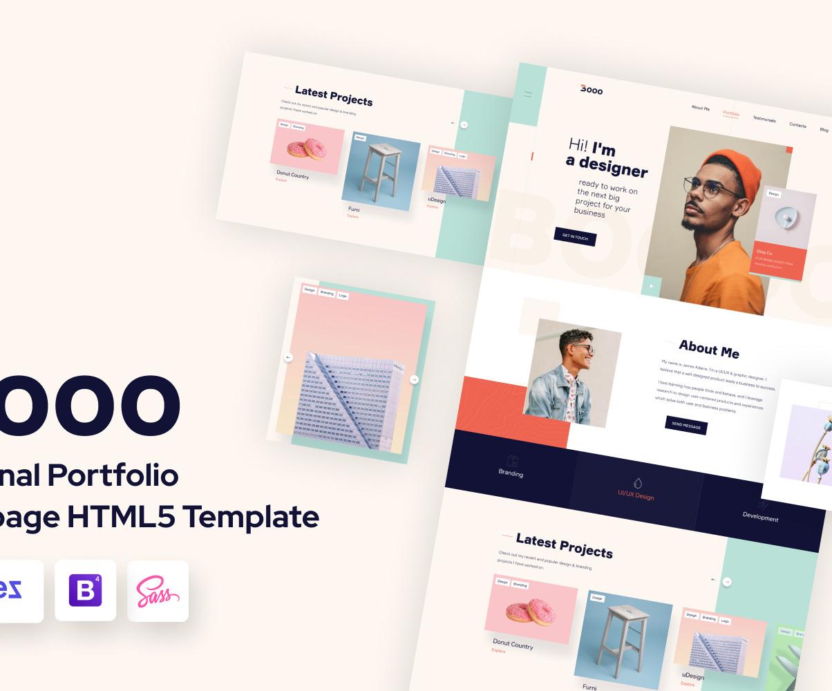 Web Designer Portfolio Landing Page For Ux Designers Templatemonster