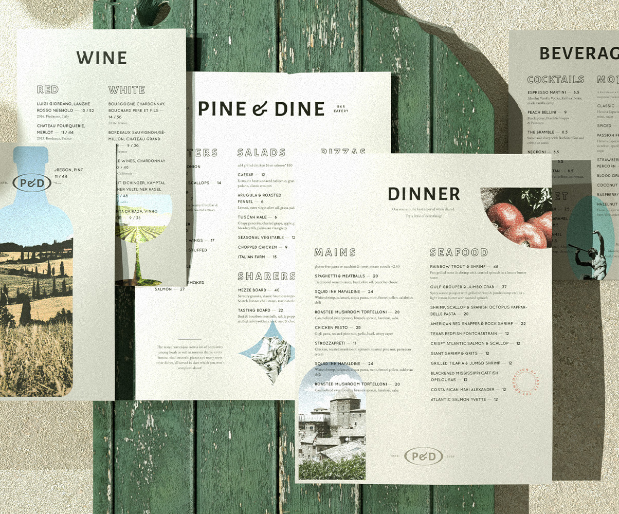 Modern Restaurant Menu Template Food And Drinks Menu