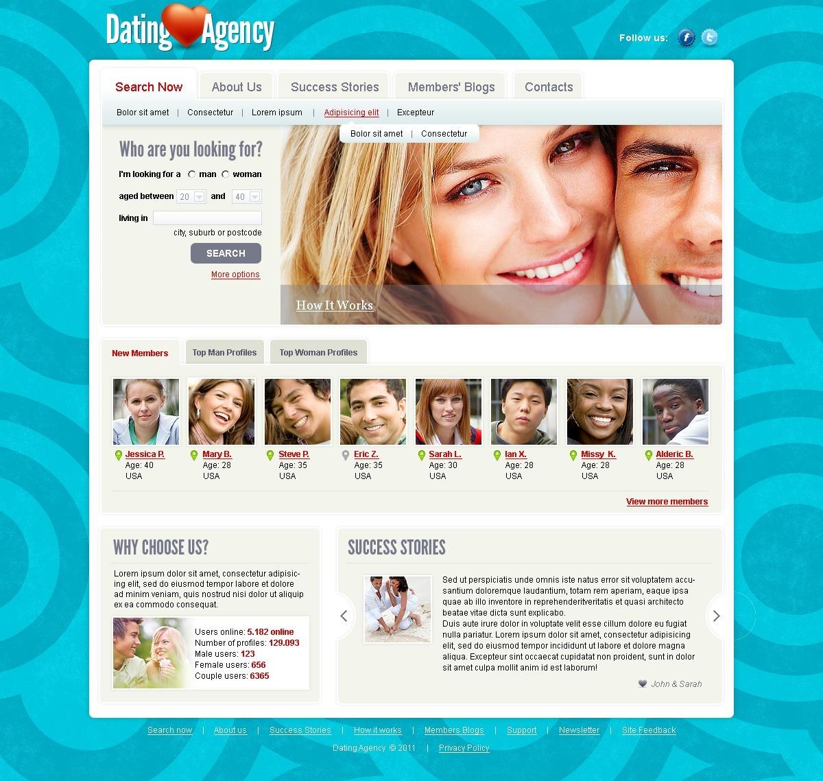 Joomla dating site template speed dating minsk