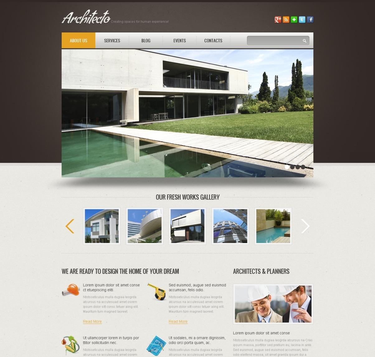 Simple Construction Wix Website Template #46256