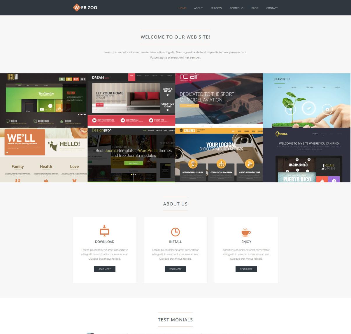 Web Design Services Joomla Template 50540