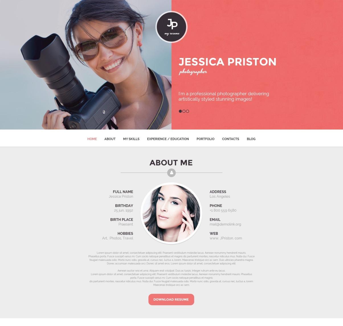 Resume WordPress Theme from s.tmimgcdn.com