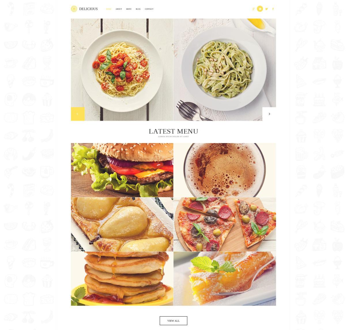 Modern Cafe WordPress Template 52704