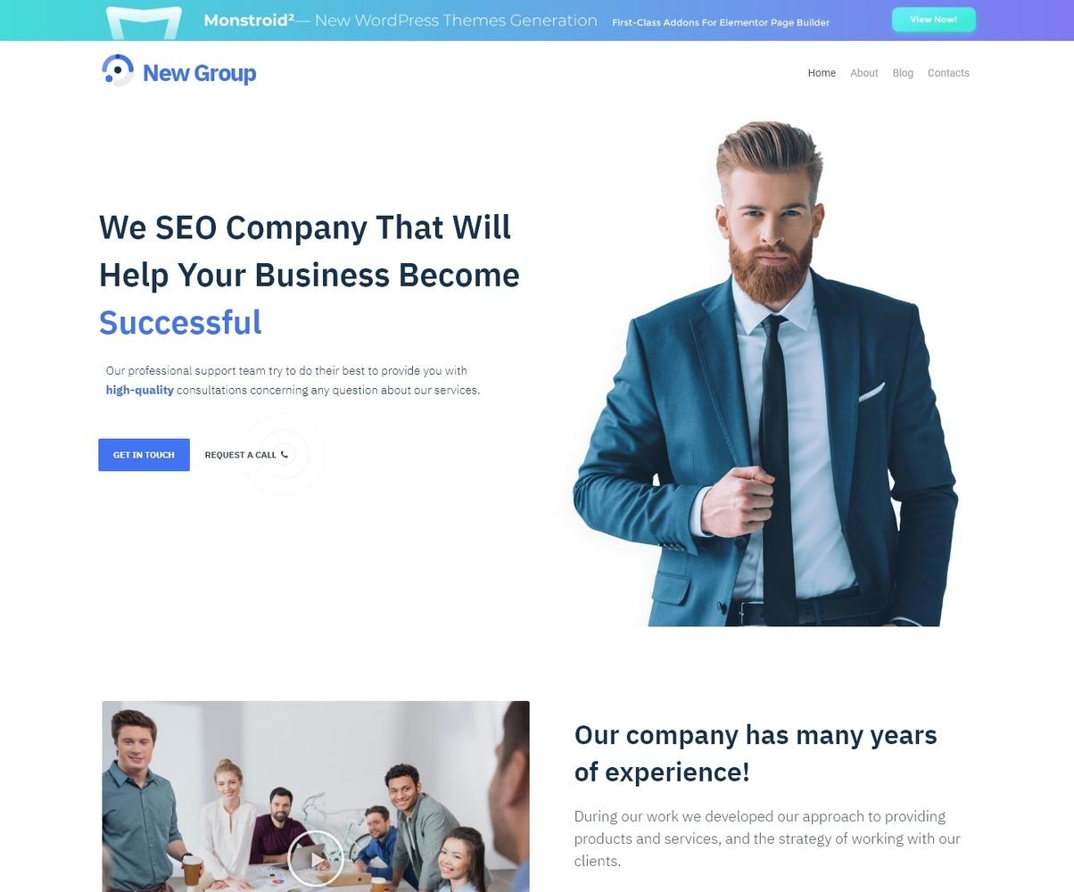 Free Wordpress Theme For Consulting Firm Wordpress Theme 54599
