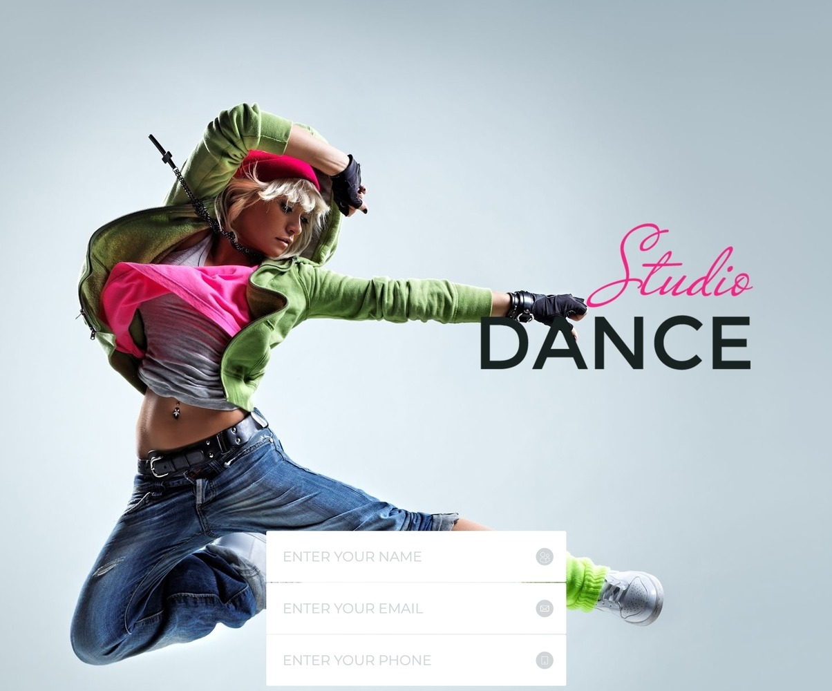 Dance Studio Special Education Clean Html5 Template De Landing Page 55595