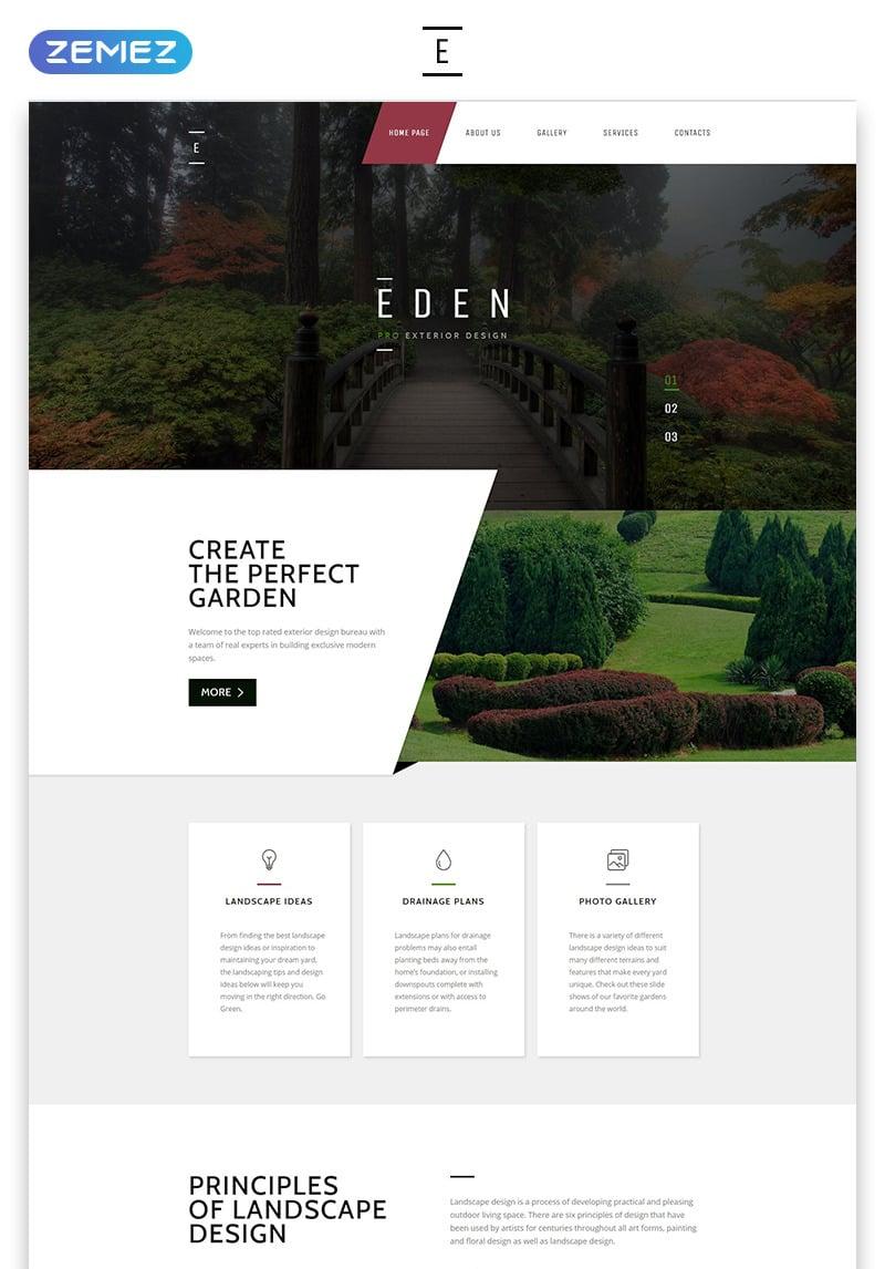 Eden Exterior Design Modern Responsive Html Website Template