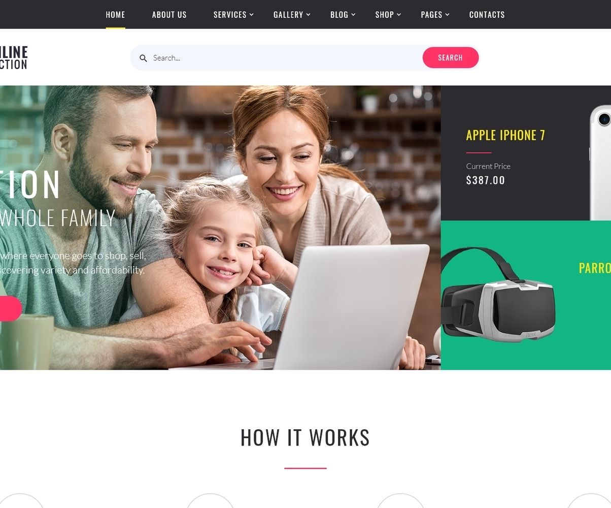 Online Auction Html Template