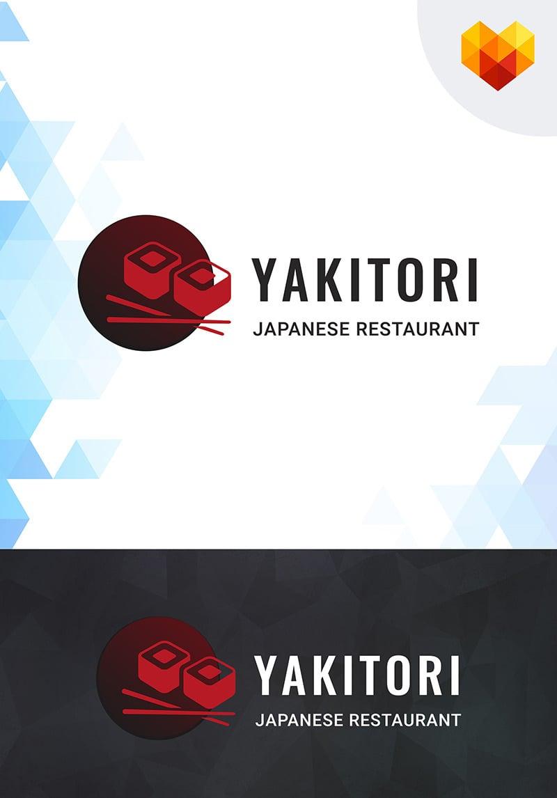 Yakitori Sushi Restaurant Logo Template 66585