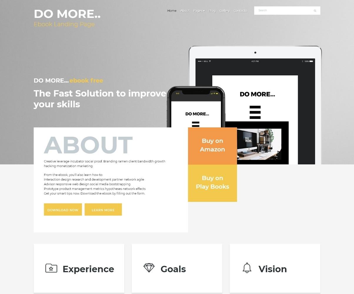Ebook Landing Page Joomla Template 68668