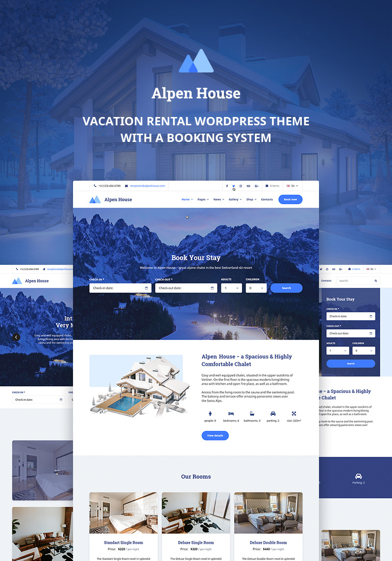 Vacation Rental Wordpress Theme Alpen House