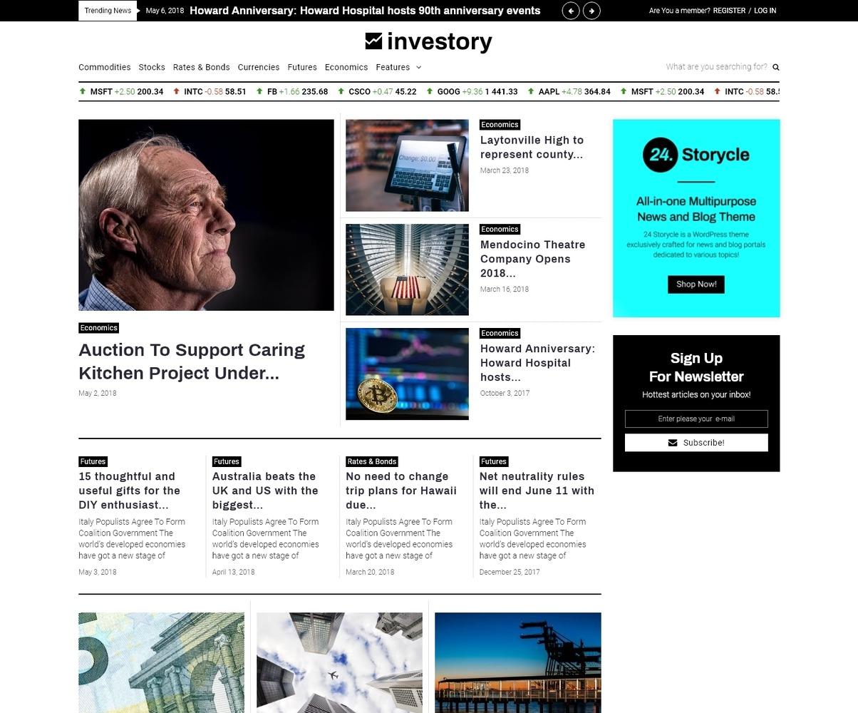 Investory Corporate Blog Elementor Wordpress Theme 71318