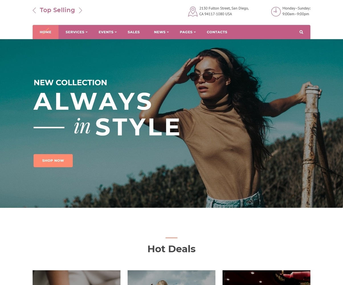 Fashion Store Multipage Html5 Template