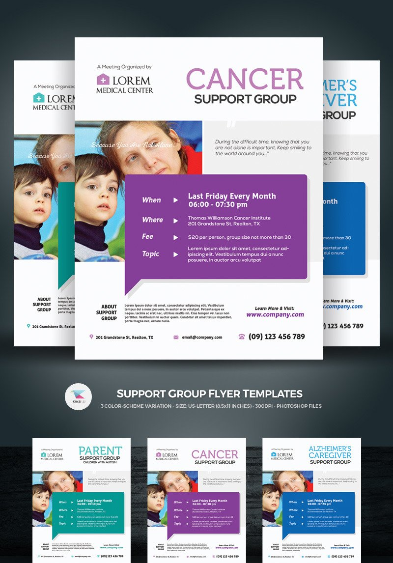 Support Group Flyer Template from s.tmimgcdn.com