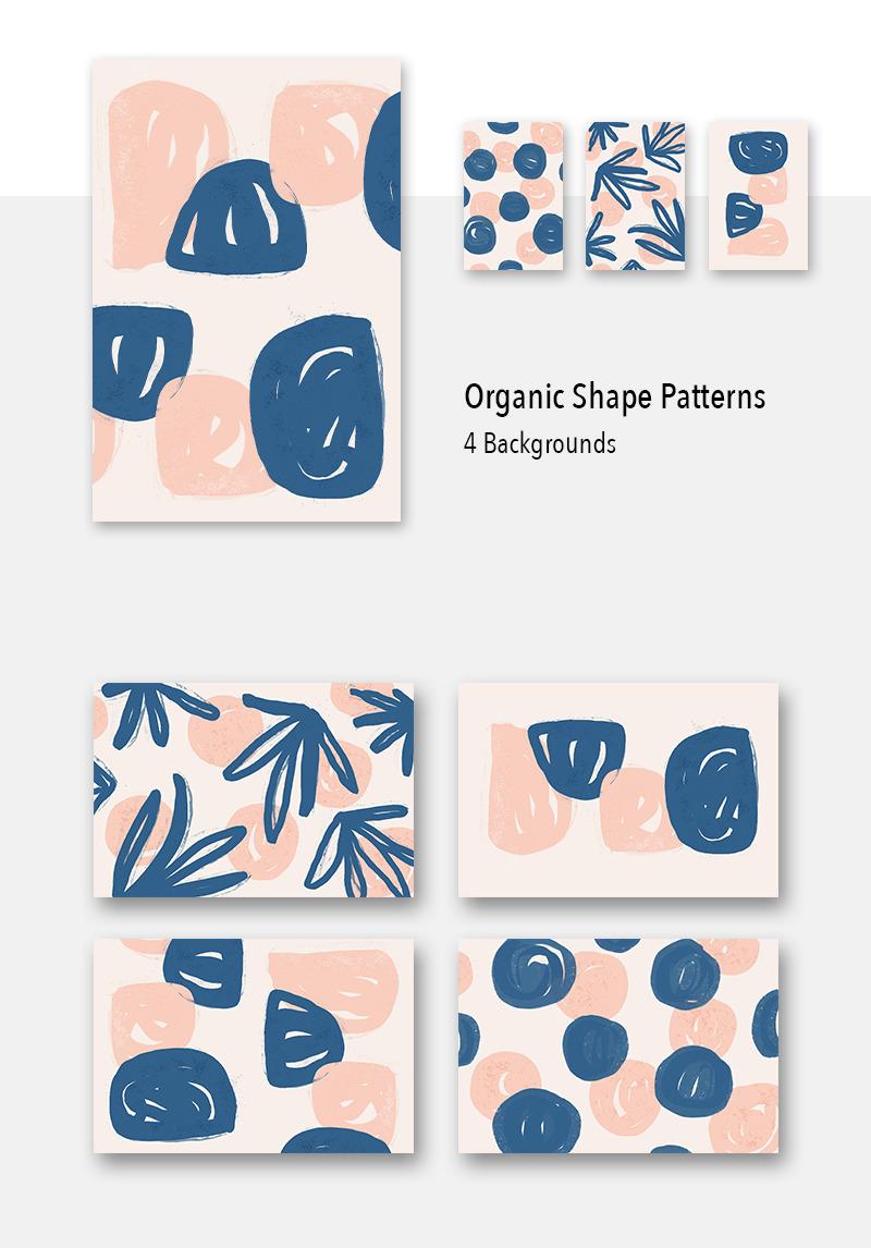 4 Organic Shape Awesome Backgrounds Pattern 79477