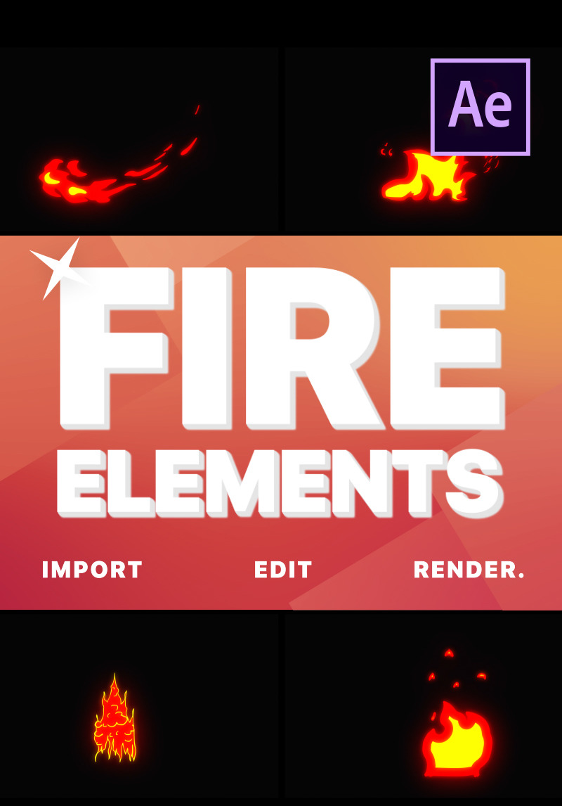 Cartoon Fire Elements After Effects Intro 80781 6,000+ vectors, stock photos & psd files. cartoon fire elements after effects intro