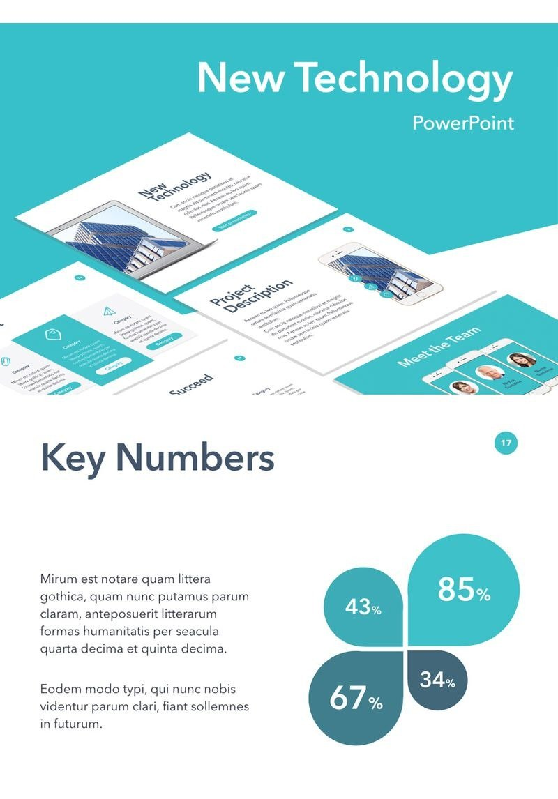 new technology powerpoint template  94252
