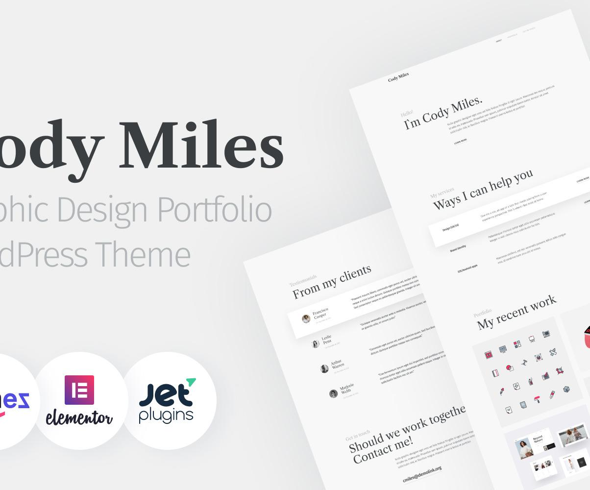 Codi Miles Graphic Design Portfolio Websites To Grow Your Business Wordpress Theme 94970