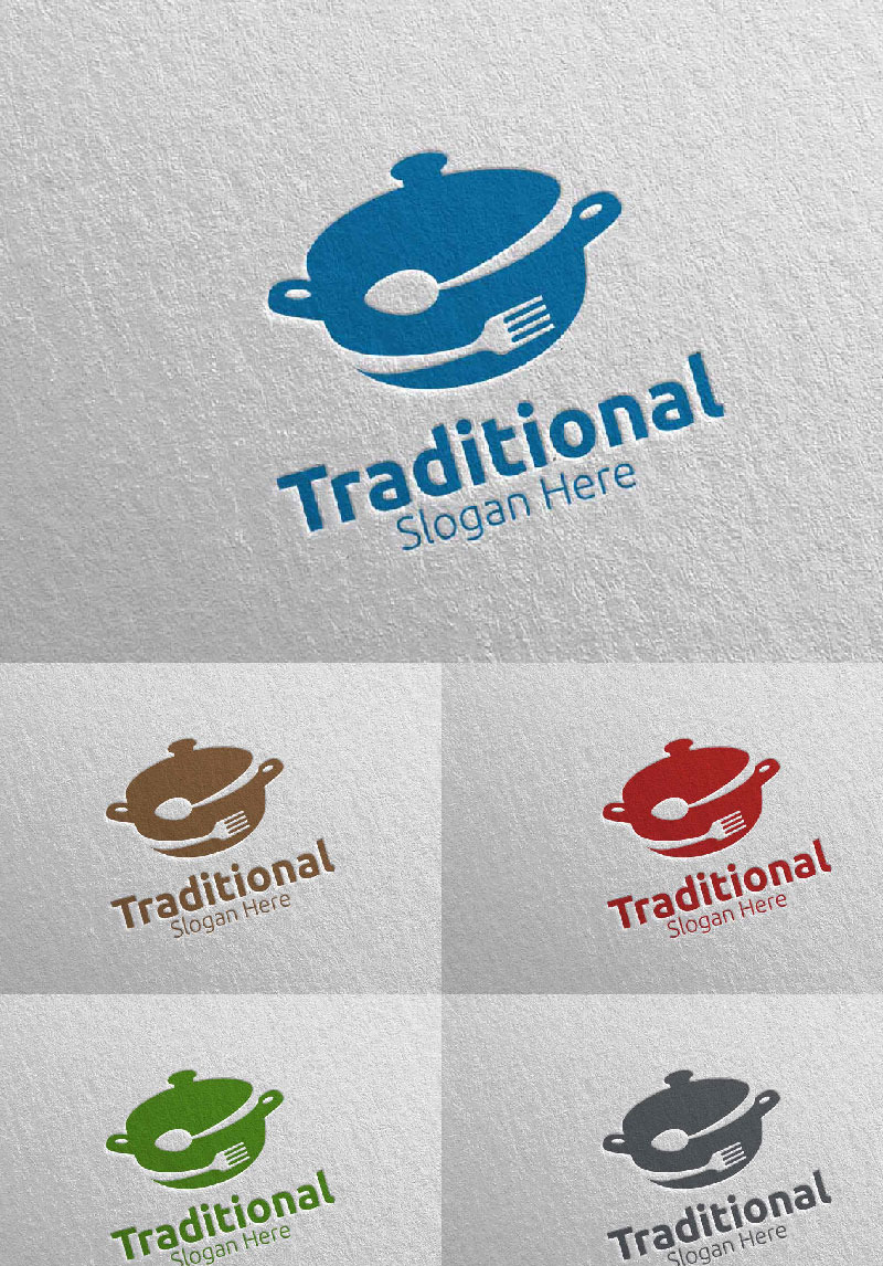 Traditional Food For Restaurant Or Cafe 32 Logo Template 95471