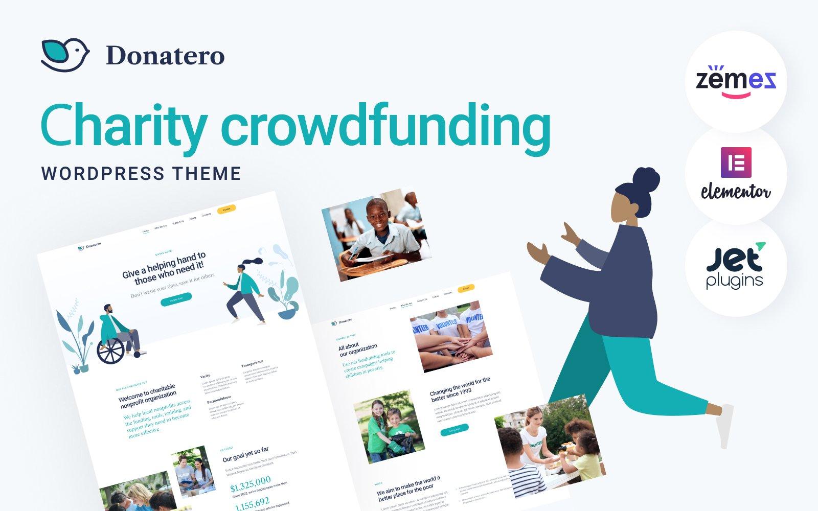 """Donatero - Charity Crowdfunding"" thème WordPress  #120709"