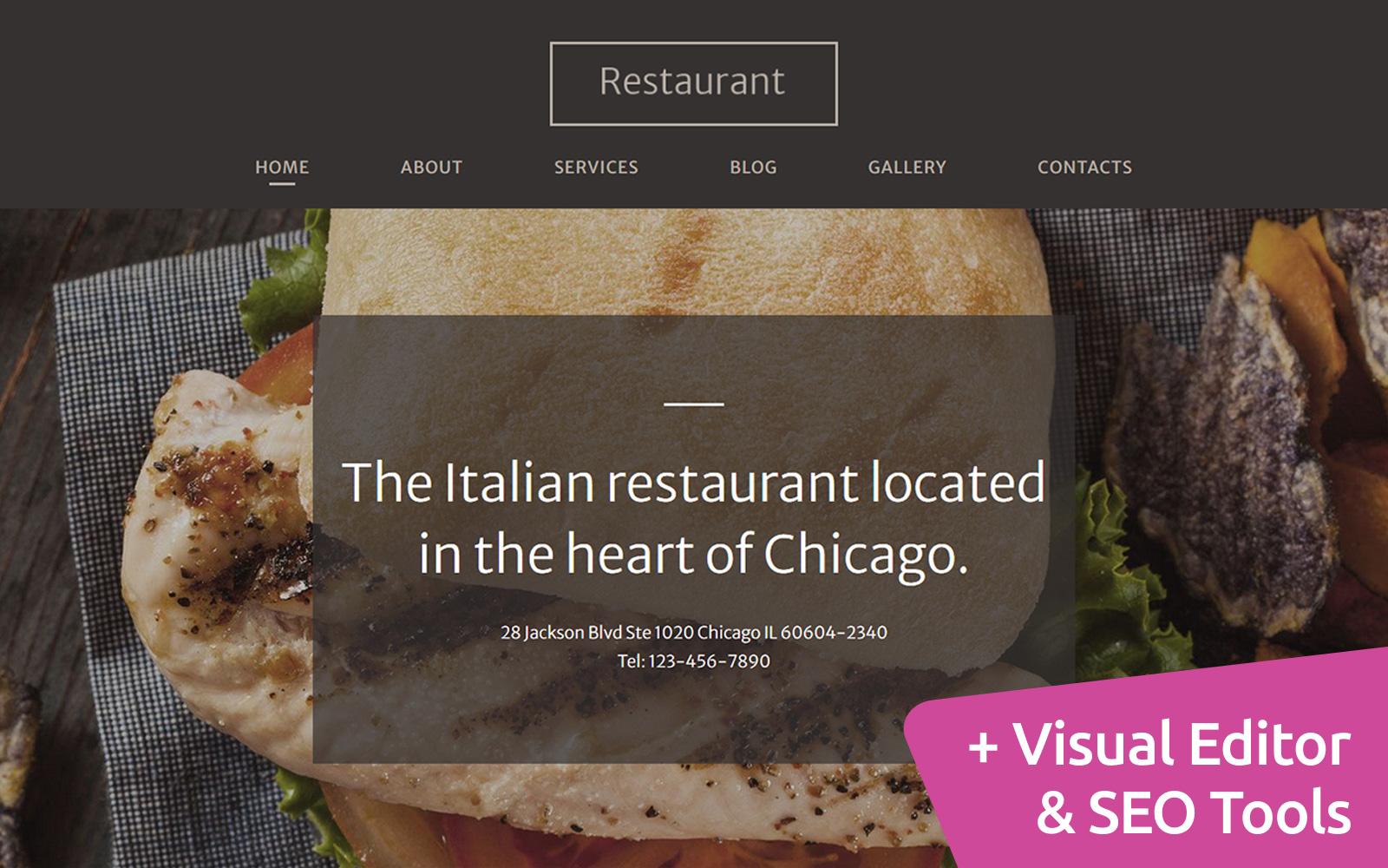 Reszponzív Italian Restaurant Moto CMS 3 sablon 120710