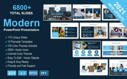 Top - Modern Creative Presentation PowerPoint template PowerPoint Template