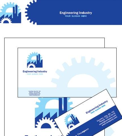 Plantilla de Identidad Corporativa #12192 para Sitio de Ingeniería civil