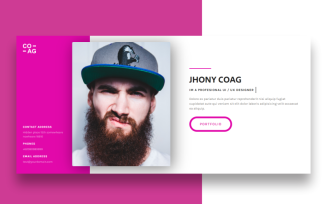 Coag - Personal One Landing Page Template