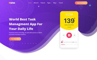 Warivo - App & Software Company Website Template