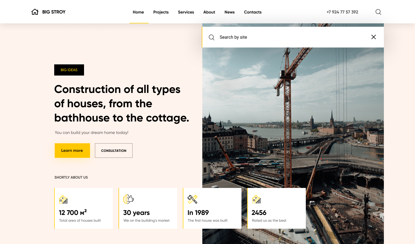 Big Stroy - Construction Company Website Template