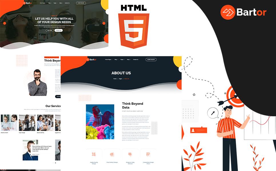 """Bartor - Creative Portfolio"" Responsive Website template №121054"