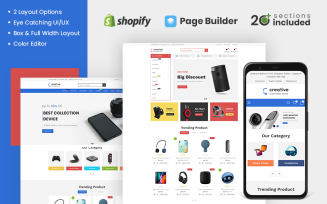Creative Electronics Store Shopify Theme