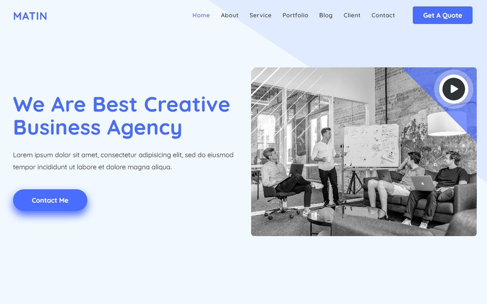 Responsivt Al-Matin - Digital Agency Html Landing Page-mall #121037