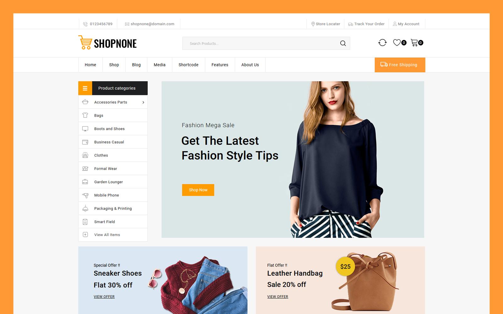 Responsywny motyw WooCommerce Shopnone - Multipurpose #121036