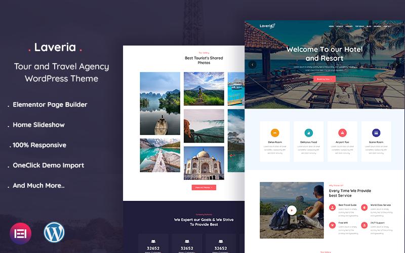 "Responzivní WordPress motiv ""Laveria – Tour and Travel Agency"" #121062"
