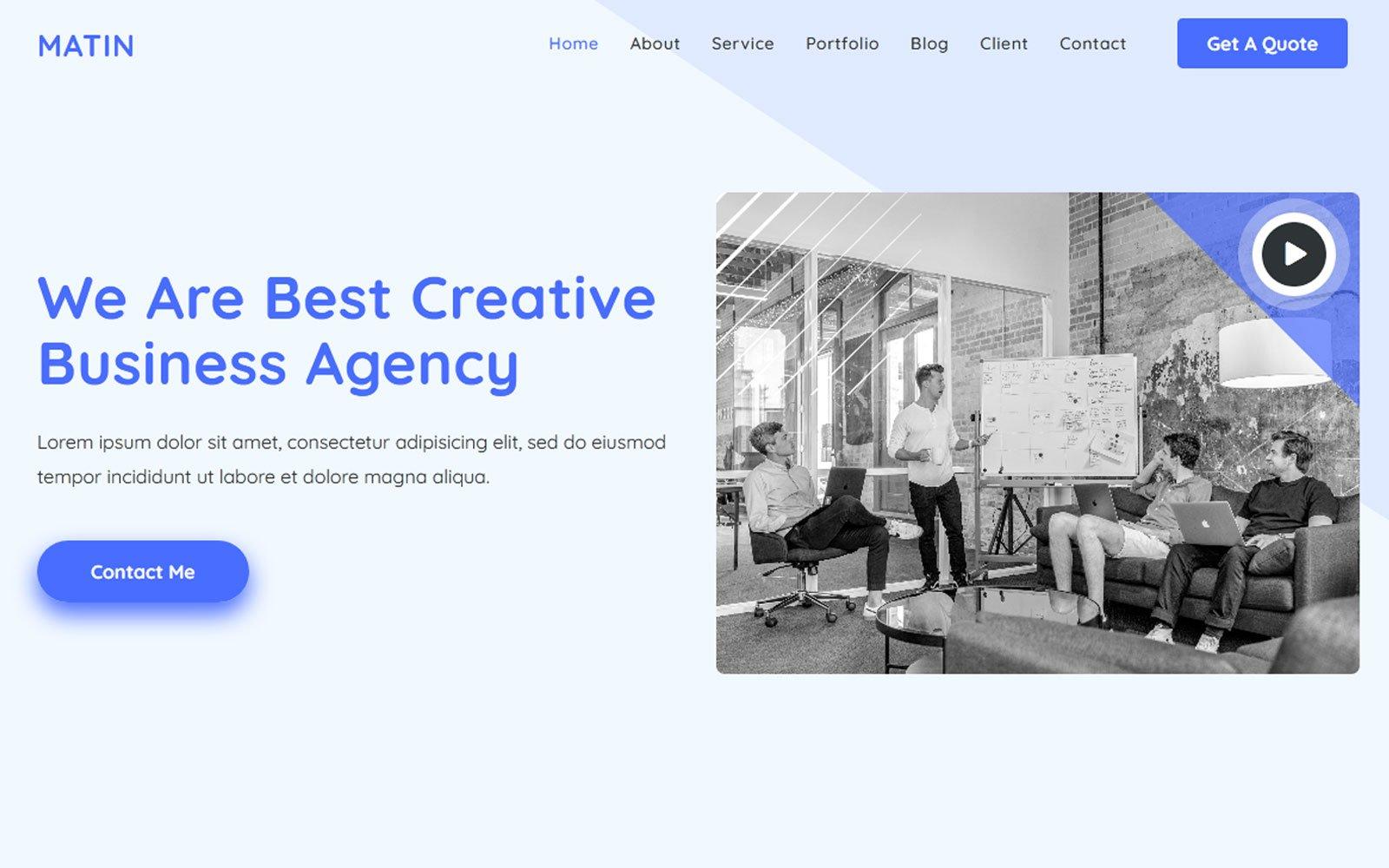 Reszponzív Al-Matin - Digital Agency Html Nyítóoldal sablon 121037