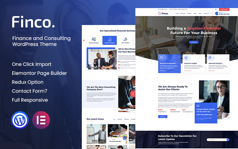 Reszponzív Finco - Finance and Consultinge WordPress Theme WordPress sablon 121059
