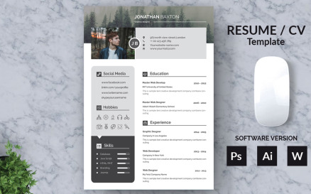 Baxton Clear And Modern Resume Template