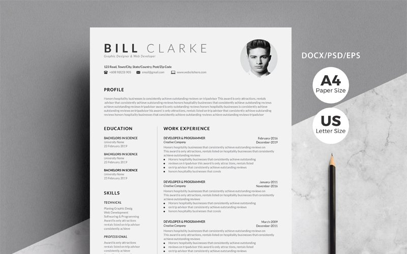 Premium Word Resume & Cover Letter #121399