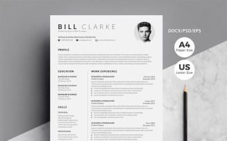 Word Resume & Cover Letter Resume Template