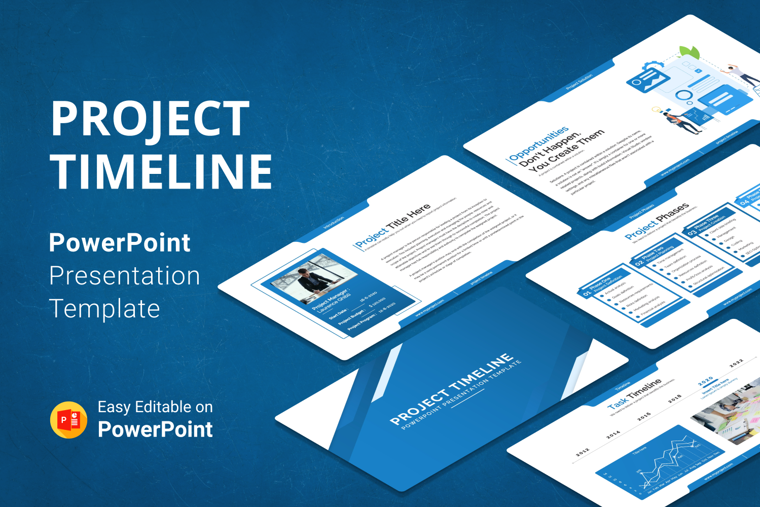 Project Timeline Report Presentation PowerPoint Template