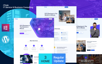 ITHUB - IT Service and Business Consulting WordPress Theme