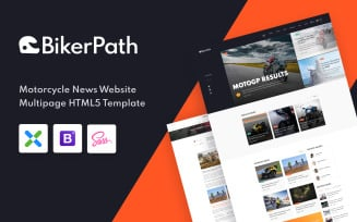 BikerPath - Motorcycle News Website Template