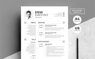 4 Pages Creative Pack Resume Template