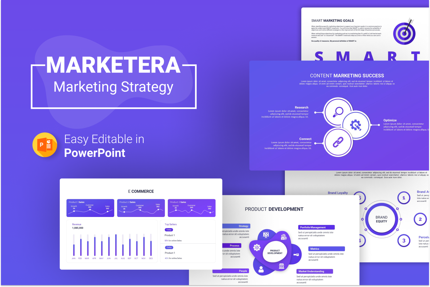 Marketera – Marketing Strategy Presentation PowerPoint Template