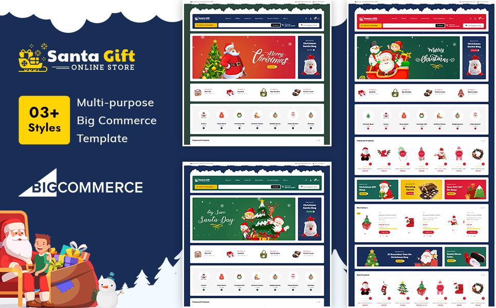 "Modello BigCommerce Responsive #121661 ""Santa Gift – Stencil Multi-Purpose Responsive"""