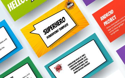 Free Superhero PowerPoint Template