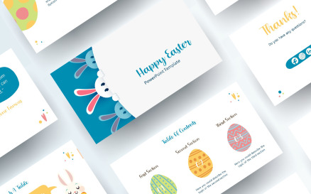Free Easter PowerPoint template PowerPoint Template